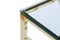 Консоль прозрачное стекло/золото2
