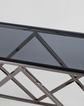 Консоль ИНСИГНИЯ 115*30 сталь темный хром стекло smoke