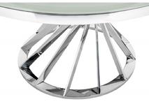 Стол Twist steel / white