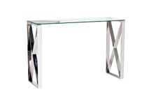 Консоль прозрачное стекло/хром4