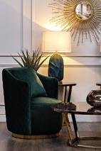 Кресло вращающееся зеленое велюровое