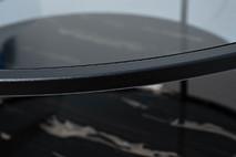 Стол журнальный круглый с темным стеклом