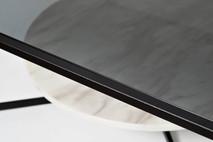 Стол журнальный квадратный с темным стеклом