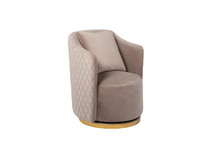 Кресло вращающееся жемчужно-серое велюровое