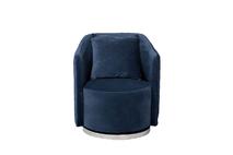 Кресло вращающееся темно-синее велюровое