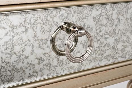 Тумбочка зеркальная с ящиком KFG1509