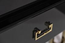 Тумбочка черная с ящиками KFG059