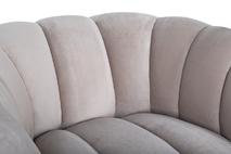 Кресло Fabio велюровое бежево-серое