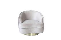 Кресло вращающееся светло-серое велюровое