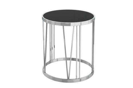 Столик из черного стекла круглый GY-ET7738