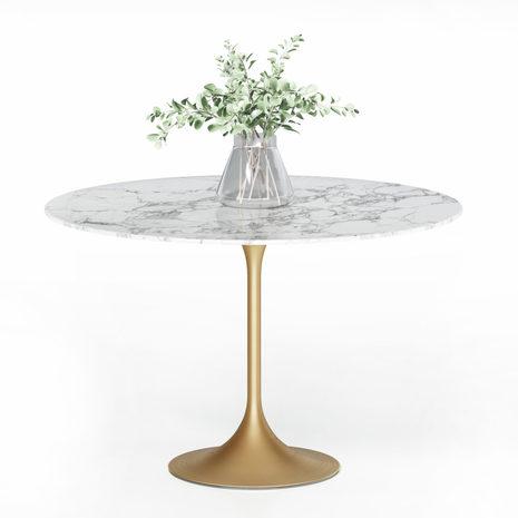 Стол золотой с мраморной столешницей