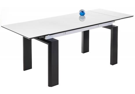 Стеклянный стол белый / венге