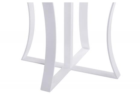 Стеклянный стол белый мрамор / белый