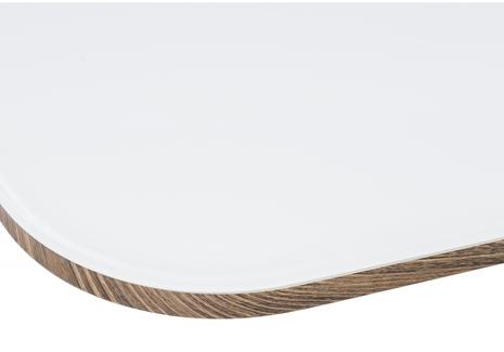 Стол на тумбе Фернан белый / орех кантри