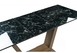 Стол на тумбе Иматра мрамор черный / черная шагрень6