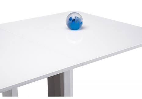 Стол на тумбе Санса 140 белый / белая шагрень
