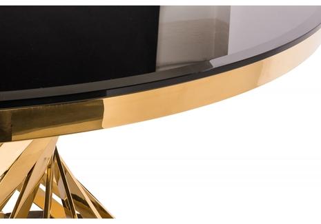 Стол Twist gold / black