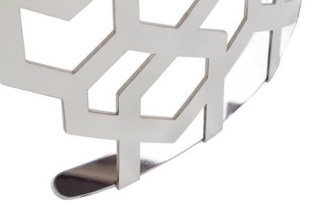 Круглый журнальный столик серебряный 13RXET8011-SILVER