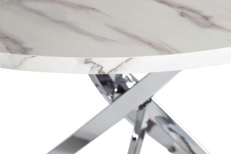 Стол обеденный круглый белый 30F-911
