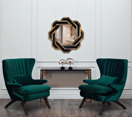 Кресло зеленое велюровое