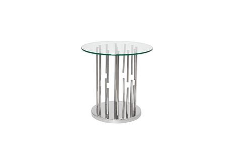 Столик журнальный круглый со стеклом