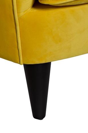 Кресло велюровое желтое