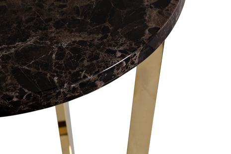 Стол журнальный коричневый (искусственный мрамор)