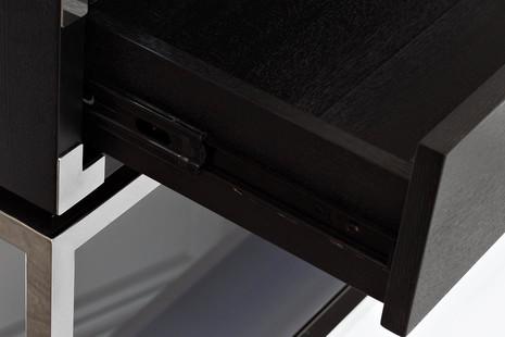 Консоль черная с ящиками