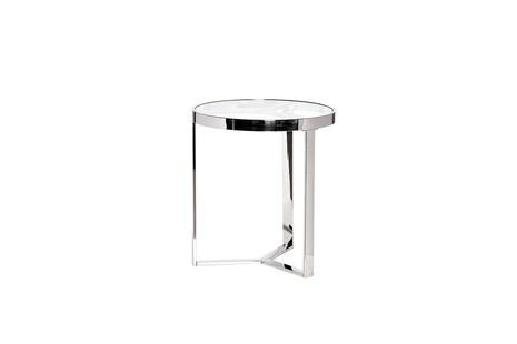 Столик журнальный с прозрачным стеклом (цвет хром)