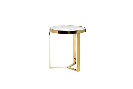 Столик журнальный с прозрачным стеклом (цвет золото)