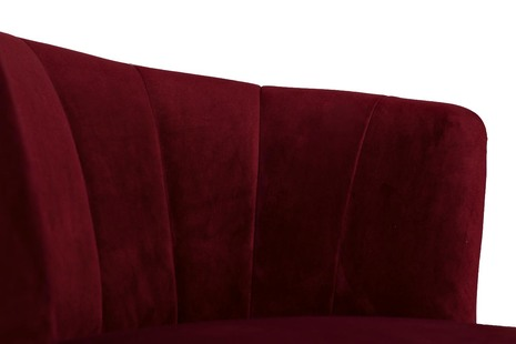 Кресло велюровое бордовое (правое/левое)