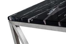 Консоль искусственный черный мрамор/мат.хром