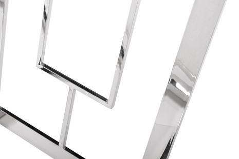 Консоль прозрачное стекло/хром3