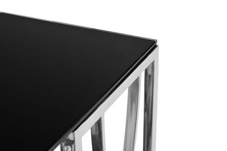Консоль черное стекло/хром2