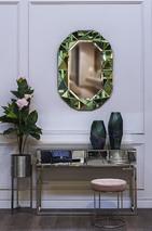 Консоль зеркальная с двумя ящиками KFG075