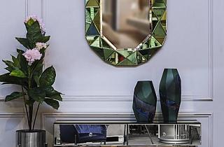 Зеркало в зеленой зеркальной раме KFG079
