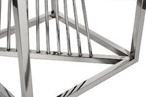 Столик журнальный высокий черное стекло/серебро 13RXET8082L-SILVER