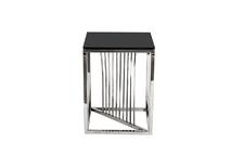 Столик журнальный черное стекло/серебро 13RXET8083M-SILVER