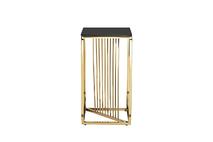 Столик журнальный высокий черное стекло/золото 13RXET8082L-GOLD