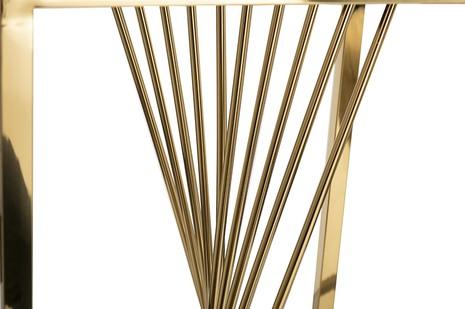 Столик журнальный черное стекло/золото 13RXET8083M-GOLD
