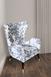 Кресло серо-белое с ушками0