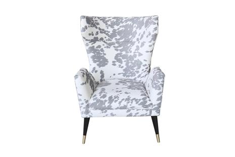 Кресло серо-белое с ушками