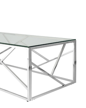 Журнальный стол 120*60 АРТ ДЕКО серебро