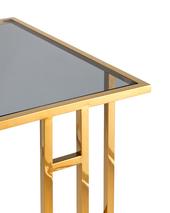 Журнальный столик 50*32 БОСТОН стекло smoke сталь золото